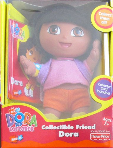 "Fisher Price Dora The Explorer Collectible Friend Dora Figure 5-1/2"" Tall W Collector Card & Back Pack (2001) front-1037200"