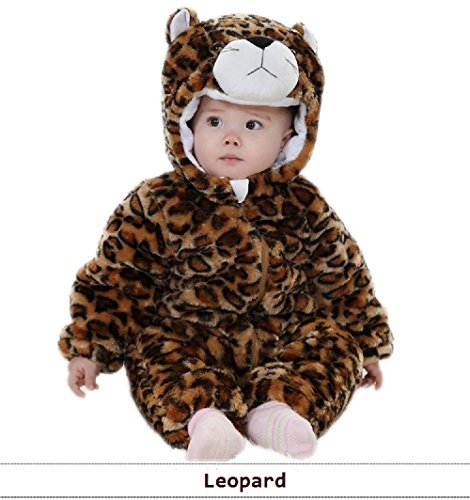 Nuovu Winter Unisex-Baby Leopard Costume With Hood, Thicken To Keep Warm (Large) front-811025
