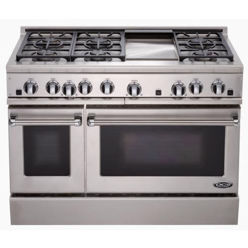 Dcs Rdt-486Gd-Ssl Range 48, 6 Burner, Griddle, Lp Gas
