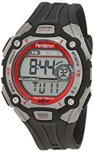 Armitron Sport Men's 408190RED Red Accented Digital Chronograph Watch
