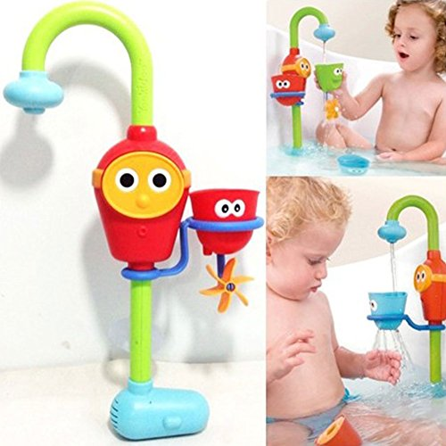 [2016 Hot Multicolor Fun Baby bath toys automatic spout play taps/buttressed folding spray showers toy faucet play with] (Axolotl Costume)