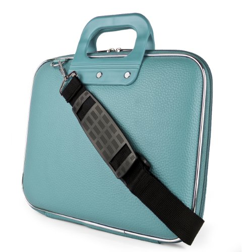 Sony Sumaclife Cady Collection Durable Semi Hard Shell Protective Carrying Case W\/ Removable Shoulder Strap (Blue) For Sony VAIO Fit 14 Inch Laptop (Multicolor)
