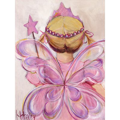 "Oopsy Daisy NB20725 Little Fairy Princess Blonde by Kristina Bass Bailey Canvas Wall Art, 18"" by 24"" - 1"