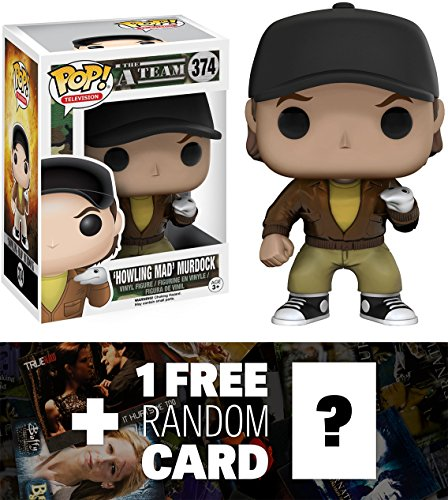 'Howling Mad' Murdock: Funko POP! x The A-Team Vinyl Figure + 1 FREE American TV Themed Trading Card Bundle (064259)