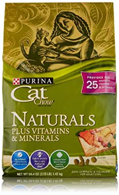 Cat Chow Naturals Plus Vitamins and Minerals, 3.15 Pounds
