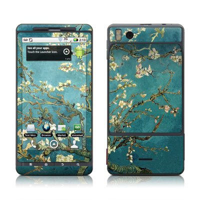 Van Gogh – Blossoming Almond Tree Protective Skin Decal Sticker for Motorola Droid X Cell Phone