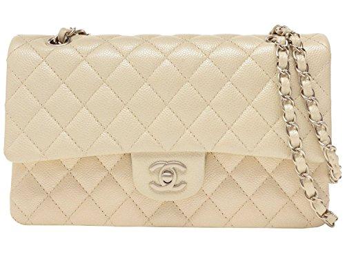 (シャネル) CHANEL バッグ BAG Wフラップ チェーンショルダーバッグ パールホワイト キャビアスキン a01112y25200-10800 ブランド 並行輸入品