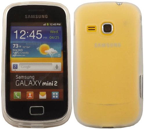 Gel Fall Decken Haut Für Samsung Galaxy Mini 2 S6500 / Off White