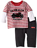 Calvin Klein Baby-boys Newborn Twofer Long Sleeve Tee with Pants