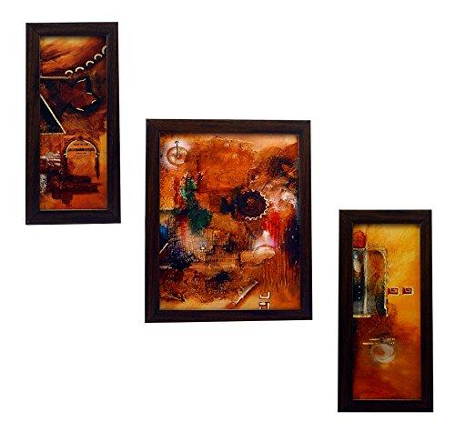 3 Piece Set Of Framed Wall Hanging Art - B015LZ35JQ