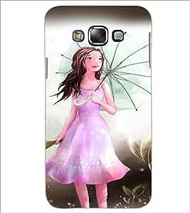 PrintDhaba Umbrella Girl D-3300 Back Case Cover for SAMSUNG GALAXY GRAND MAX (Multi-Coloured)