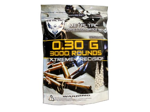 MetalTac Airsoft BBs Bag of 3,000 0.3g 6mm BBs Pellet Sniper Round for Airsoft Gun (Airsoft Green Bullets compare prices)