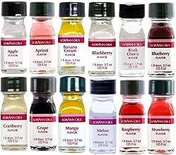 LorAnn Oils Gourmet Super Strength Fruit Flavors No Oils 1 Dram Variety Bundle 1 Pack of 12