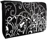 Black & White Fleur 15.4 inch Laptop Padded Compartment Shoulder Messenger Bag for K-Cliffs Lifestyle