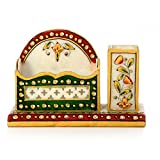 Single PieceEthnic Treat 1 Visiting Card Holder LxBxH: 6x4x2.5 White Visiting Card Holder