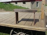"Barnwood Decor - 2 Foot Barn Wood Bench. Amish Country Collectible Handmade Rustic 2 Foot Barnwood Bench. Bench Seat Varies in Width 8 - 10"". Stands 16"" Off Ground. Made From Barnwood in Excess of 100 Years Old. What an Amazing Price! Color of Barnwood May Vary Upon Availability."