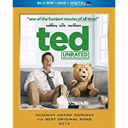 Ted (Unrated Blu-ray + DVD + Digital with UltraViolet)