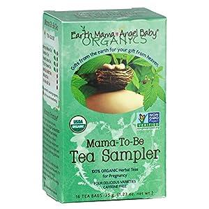 Earth Mama Angel Baby Organic Mama-To-Be Tea Sampler, 16 Teabags/Box  (Pack of 3)