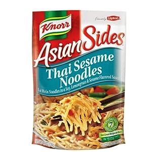 Knorr/Lipton Noodles & Sauce, Thai Sesame Noodle, 4.4Ounce Packages