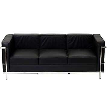 Fine Mod Imports Home Indoor Patio Cube Lc2 Petit Sofa Black