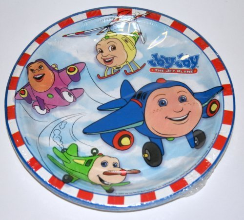 JAY JAY the JET Plane Dessert Plates (8 Count) - 1