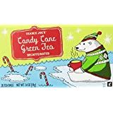 Trader Joes Candy Cane Green Tea Decaffeinated 20 Tea Bags, a Holiday Favorite with Peppermint,vanilla and Cinnamon Flavors