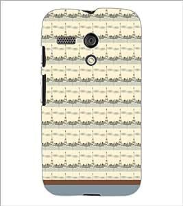 PrintDhaba Tower Pattern D-1789 Back Case Cover for MOTOROLA MOTO G (Multi-Coloured)