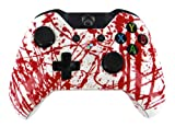 """Blood Splatter Extreme"" Xbox ONE Custom Modded Controller Exclusive Design - COD Ready Zombie Auto Aim, Drop Shot, Fast Reload, & Menu for Ghost !"