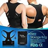 Back Brace Posture Corrector For Lower & Upper Back Pain Relief | Men & Women | Adjustable Lumbar & Spinal Support Belt | Improves Posture - Clavicle & Spinal Harness For Hunchback