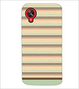 PrintDhaba Tribal Pattern D-1737 Back Case Cover for LG GOOGLE NEXUS 5 (Multi-Coloured)