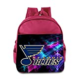 2016 Hockey St. Louis Blues Logo Children School Pink Backpack Bag