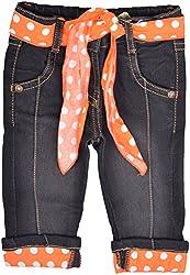 Little Kangaroos Baby Girls' Relaxed Jeans (HF22, Black)