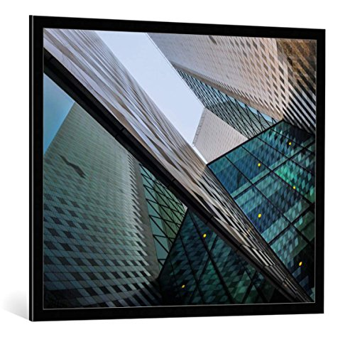 framed-art-print-ercan-sahin-urban-geometry-decorative-fine-art-poster-picture-with-high-quality-fra