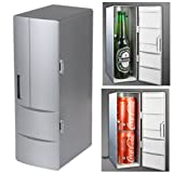 OriGlam® USB-Powered Mini Fridge (Cooler) & Warmer for Beverage, Drinks, Beer, Plug and Play (Silver)