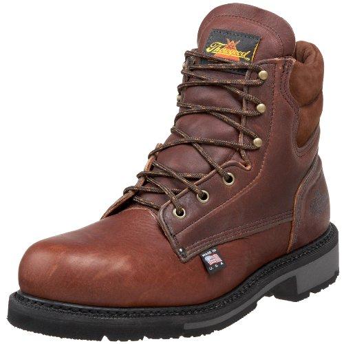 "Thorogood American Heritage 6"" Safety Toe Boot, Walnut, 10.5 D Us"