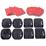 XCSOURCE Helmet Accessories Kit Set 4x Flat 4x Curved Surface Mounts + 3M Adhesive For Gopro Hero 1 2 3 3+ 4 OS86