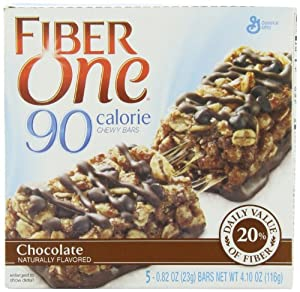 Fiber One 90 Calorie Chewy Bars, Chocolate, 5-Count, 4.10oz Boxes (Pack of 6)