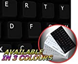 English US Non-Transparent Keyboard Sticker On Black Background