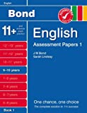 Sarah Lindsay New Bond Assessment Papers English 9-10 Years Book 1