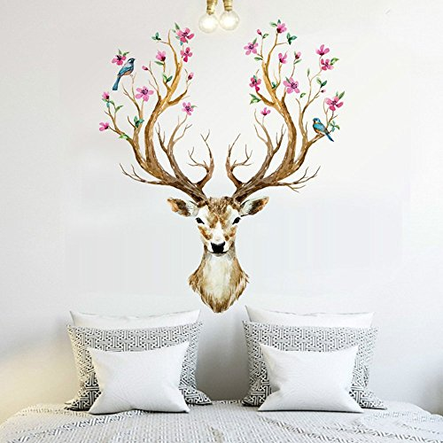 mlm-382x317-modern-fashion-sika-deer-with-flower-birds-wall-stickers-for-living-room-wall-decals-art