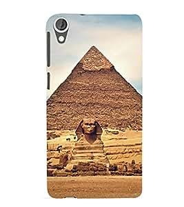 Giza Pyramids 3D Hard Polycarbonate Designer Back Case Cover for HTC Desire 820 :: HTC Desire 820 Dual Sim :: HTC Desire 820S Dual Sim :: HTC Desire 820q Dual Sim :: HTC Desire 820G+ Dual Sim
