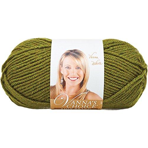 Lion Brand Yarn 860-174C Vanna's Choice Yarn, Olive