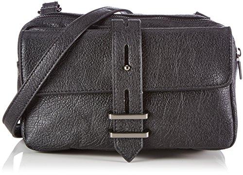 Friis & Company - Grain Mischa Cross Over, Borsa A Tracolla da donna, nero (black), 10x15x24 cm (B x H x T)