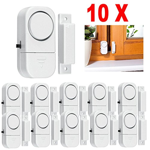 10X WIRELESS Home Window Door Burglar Security ALARM System Magnetic Sensor (Motion Sensor Wifi Light Switch compare prices)