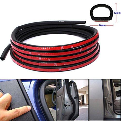 D Type Car Door Edge Trim Seal Strip Interior & Exterior PVC Rubber Door Bonnet Boot 4m x 9mm x 10mm (Automotive Rubber Window Seal compare prices)