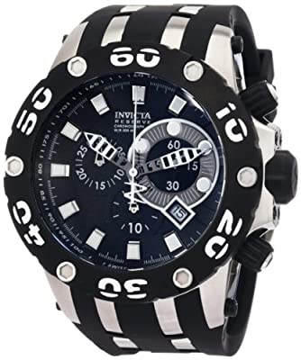 Invicta Men's 0903 Reserve Chronograph Black Dial Rubber Watch