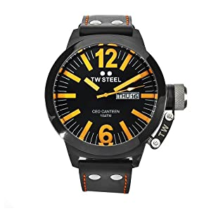 TW Steel Men's CE1028 CEO Canteen Black Leather Dial Watch