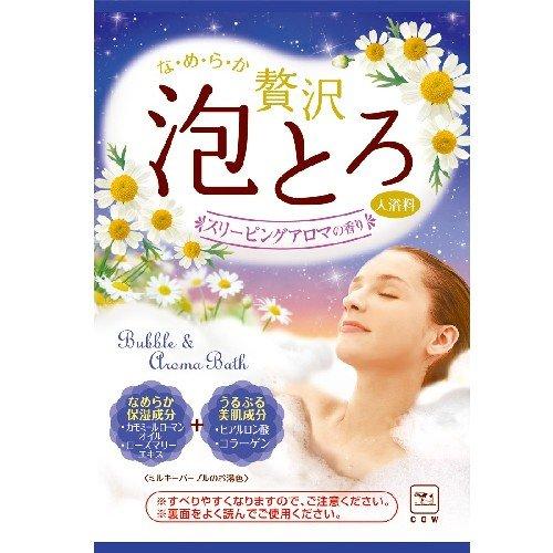 牛乳石鹸共進社 お湯物語 贅沢泡とろ入浴料スリーピングアロマの香り 30g