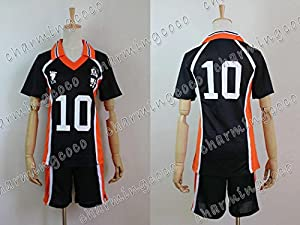 Haikyuu!! Karasuno Jersey No.10 Shouyou Hinata Costume School Uniform (Male S)