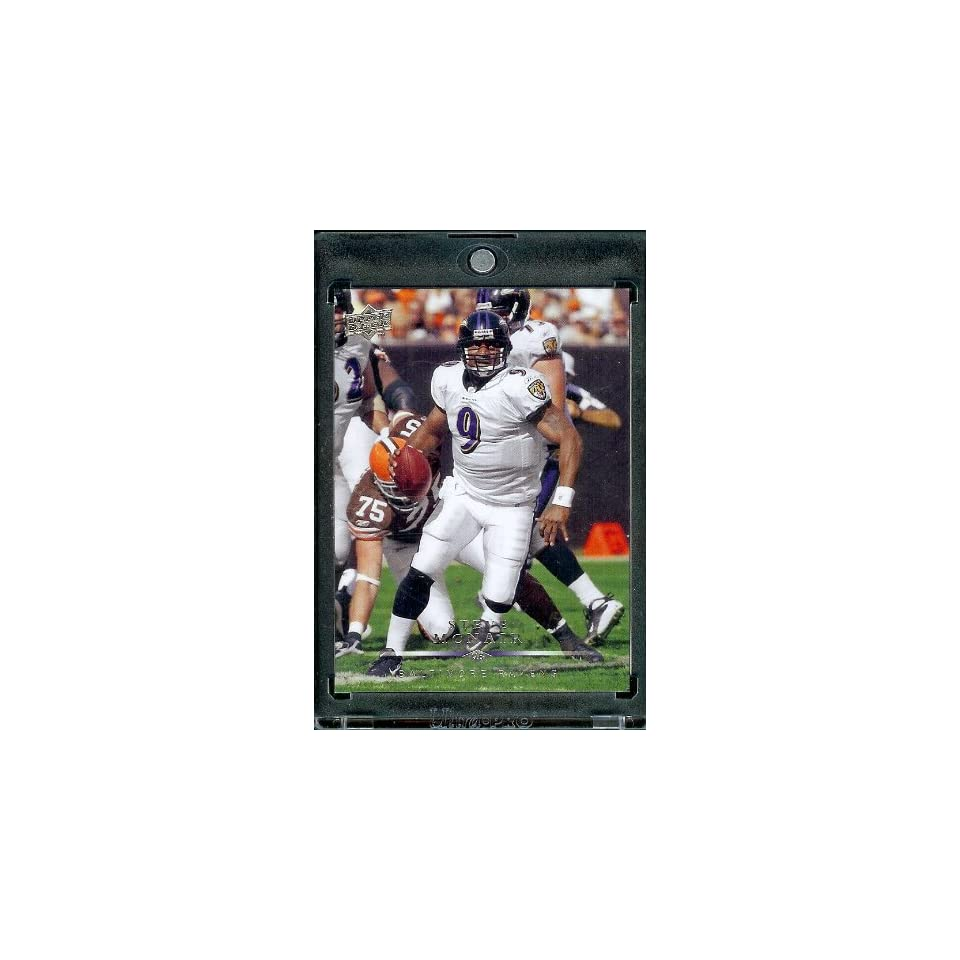 2008 Upper Deck #14???? Steve McNair   Baltimore Ravens   NFL Trading Cards in a Protective Display Case Sports Collectibles